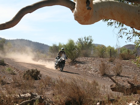 Charley Boorman rides the Moralana Gorge Rd tourism