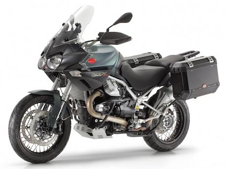 2014 Moto Guzzi Stelvio NTX ABS Ewan McGregor and Moto Guzzi Stelvio