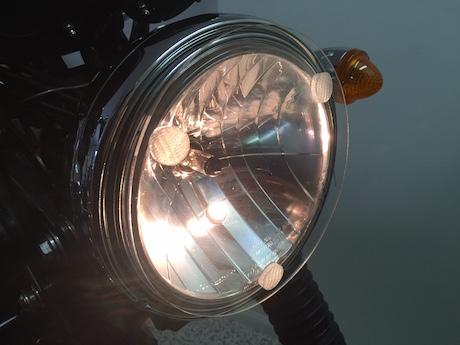 Triumph Bonneville T100 headlight protector