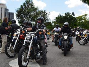 Riders at VLAD protest rally bikie war