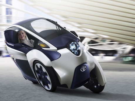 Toyota iRoad leaning three-wheeler