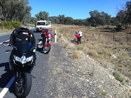 First Aid for Motorcyclists course crash