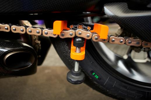 Motorcycle Chain Tension Setting Tool Suzuki Kawasaki Honda KTM Bike