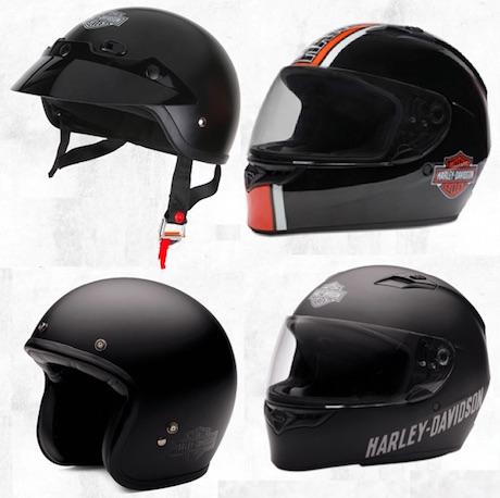 Harley helmets range