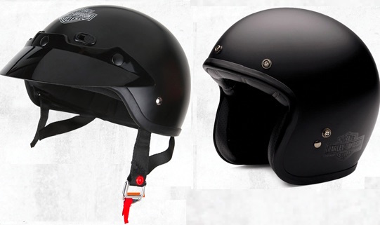 Harley Shorty (left) and Retro helmets