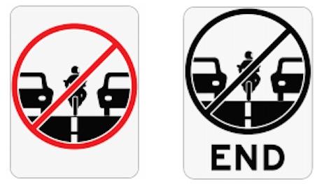 Lane filtering signs