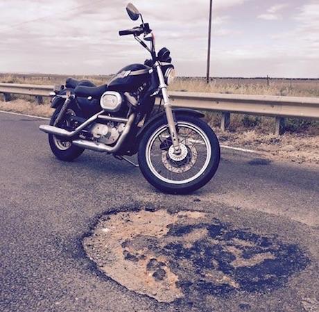 Road maintenance potholes