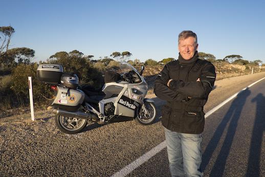 Black Dog Ride quanh Úc 2014 Ông chủ sáng lập Steve Andrews FUTURE