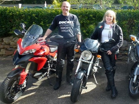 First Aid for Motorcyclists organisers Roger Fance Tracy Hughes
