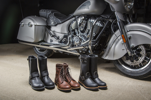 Indian Motorcycle Red Wing boots coming
