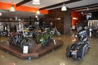 Motorcycle dealer showroom deal customer