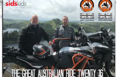 Paul and Andy are joining the 2016 Great Australian Ride