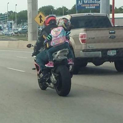 children pillion motorcycle