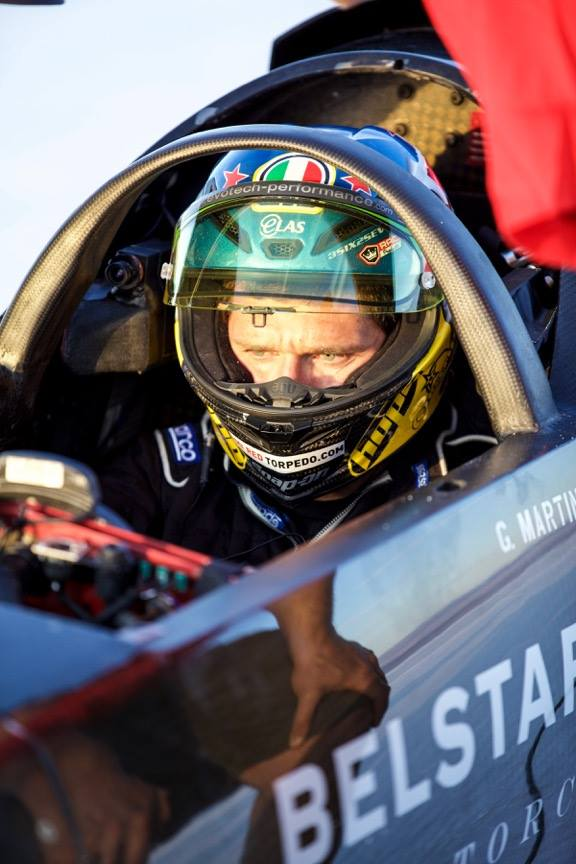 Guy Martin Triumph Bonneville salt flats world speed record