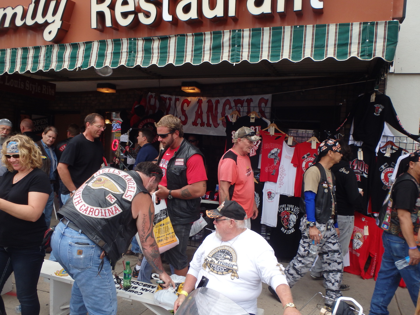Hells Angels stall at the Sturgis Motorcycle Rally fashion