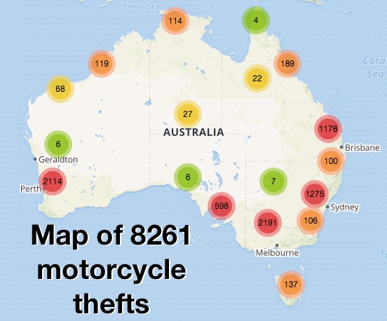 Alarming rise in motorcycle theft