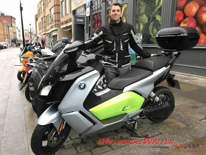 Living With An Electric Bmw C Evolution Scooter Motorbike Writer