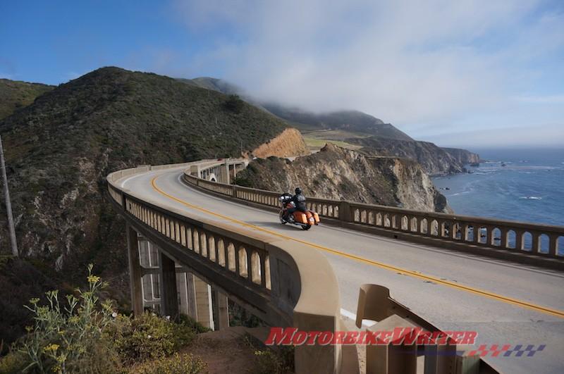 Big Sur Harley-Davidson du lịch Mỹ Mỹ California quy định tuyến đường cụt