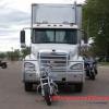 Hình ảnh xe tải lùi làn đường lọc điểm mù