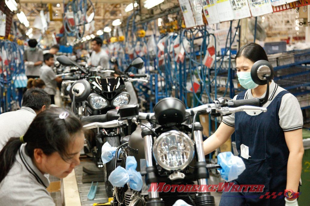 Nhà máy Triumph Thái Lan thử nghiệm