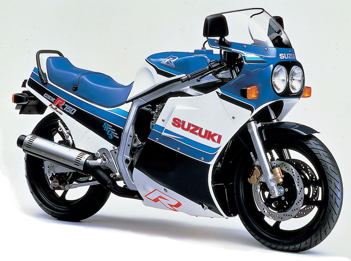 1986 Suzuki GSX-R750 Side View
