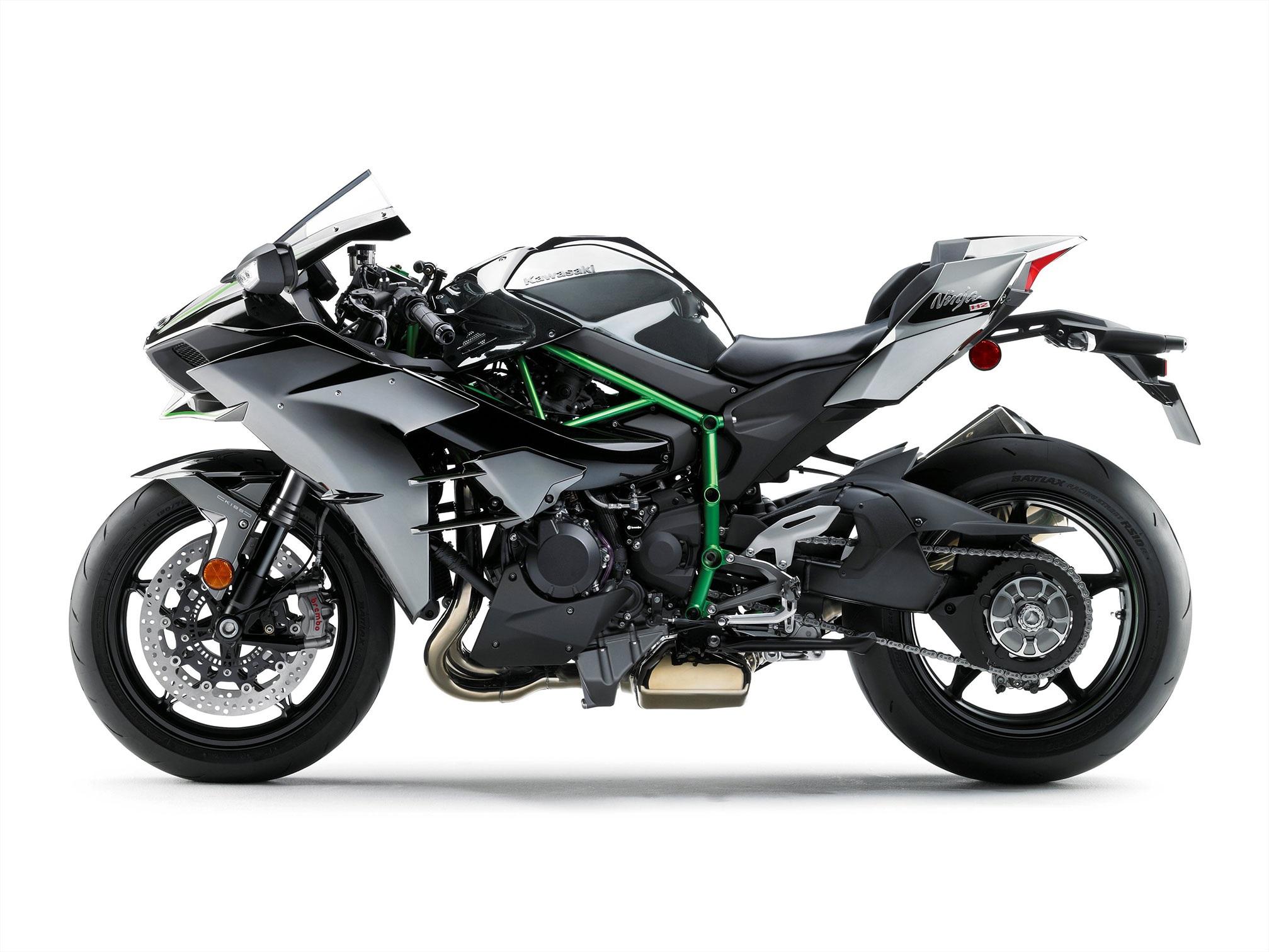 2015 Kawasaki H2 Side View Studio Shot