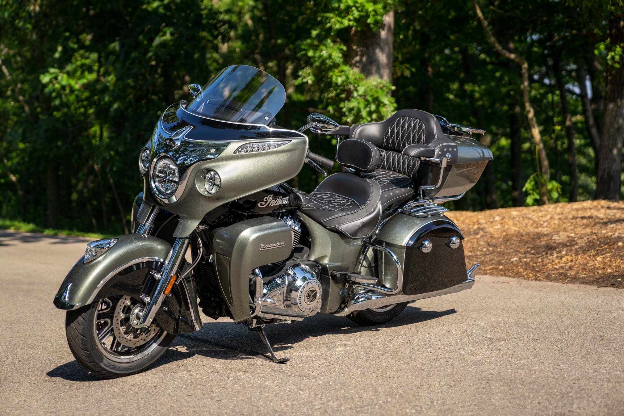 2021 Indian Roadmaster Parked Side View