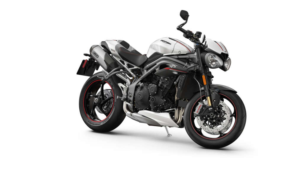 2020 Triumph Speed Triple Front and Side View