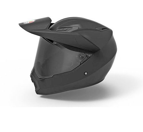 The optional smaller sun peak for the AGV AX-9 helmet.