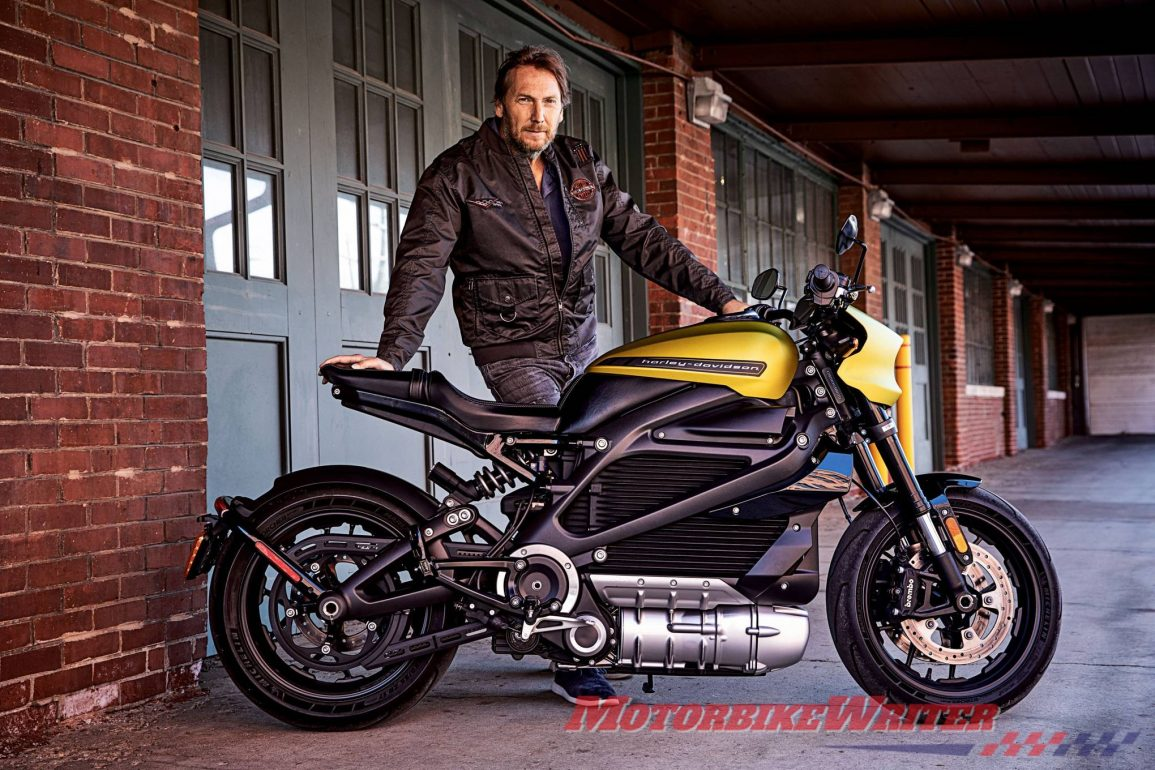 Jochen Zeitz - Harley's new CEO posing with a Livewire