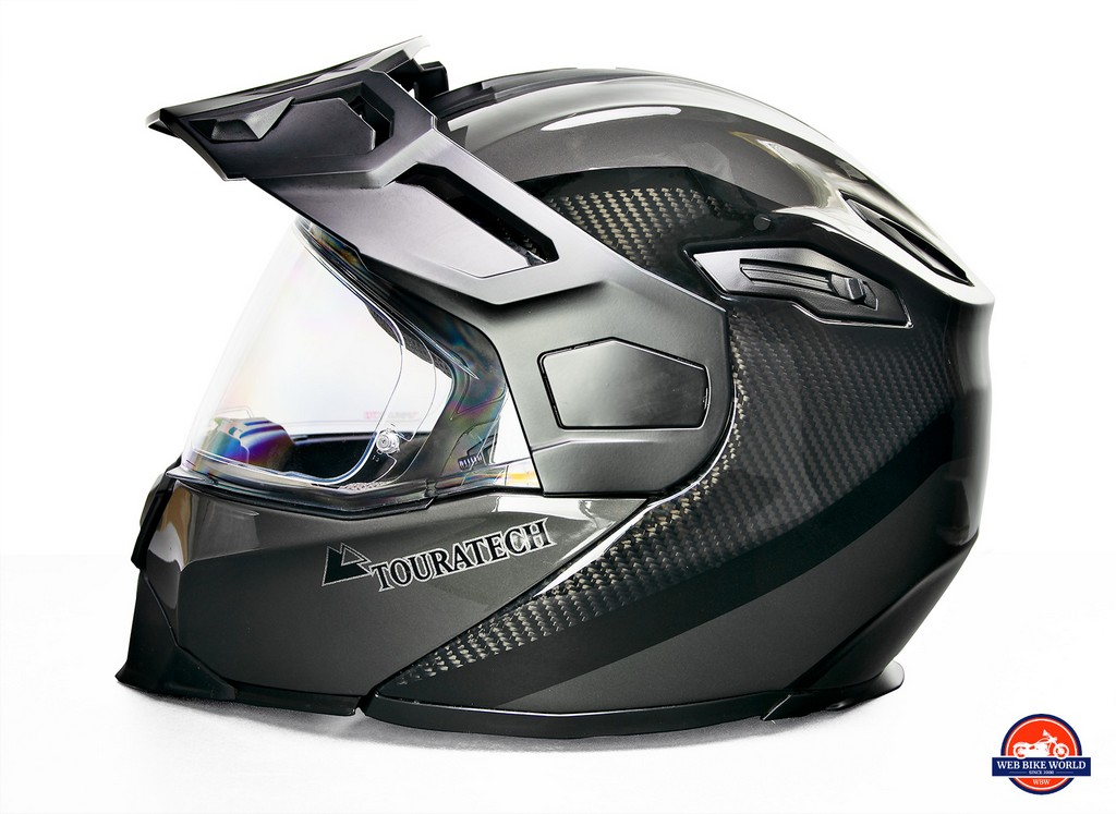 The Touratech Aventuro Traveller Carbon helmet.