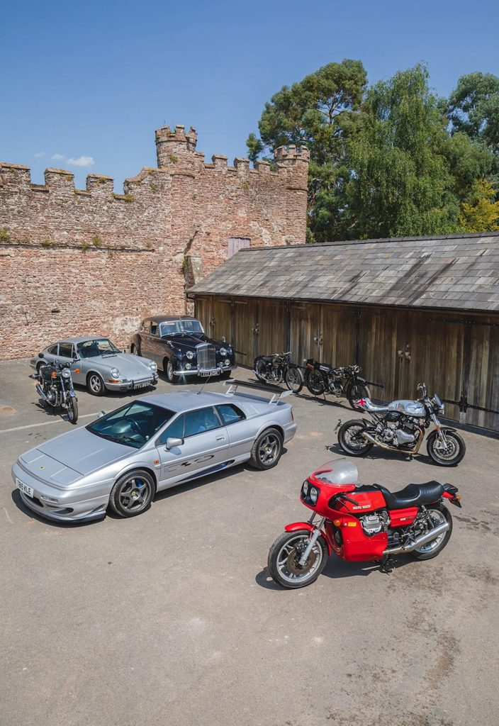 """a view of some of Roger Hammond's classic collection, which he will be auctioning off to support a new business venture, called """"The Smallest Cog"""""""