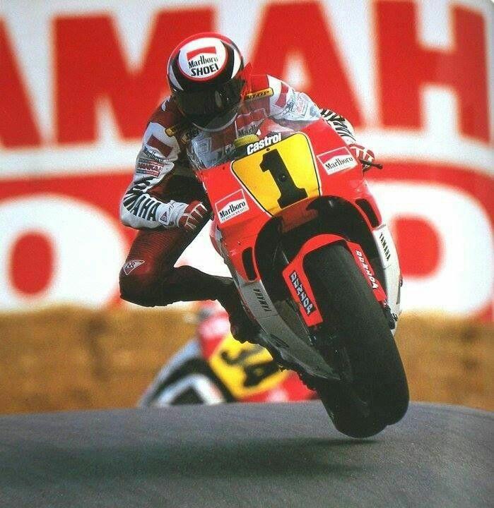Wayne Rainey racing at Laguna Seca in 1991