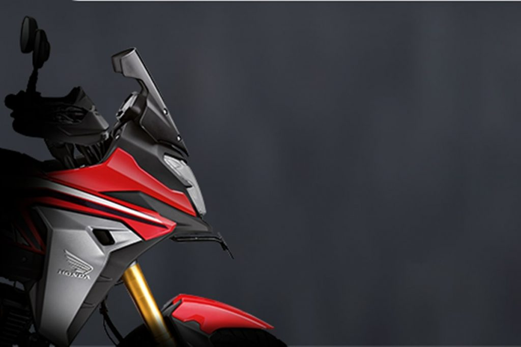 A sneak peek of the all-new 2021 Honda CB200X (previously thought the NX200) released to India this morning