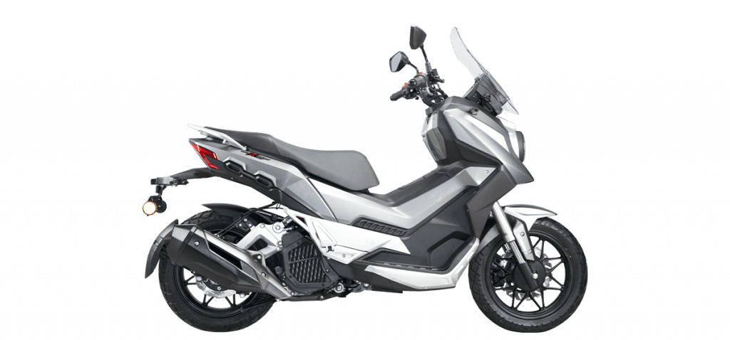 A view of the all-new WMoto Xtreme 150i Scooter, from Malaysia