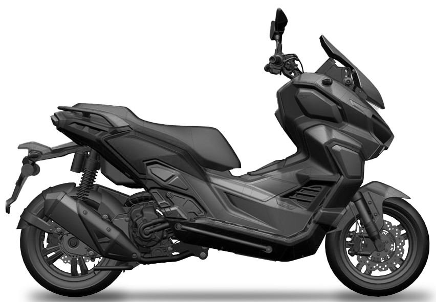 A side profile of the 3D blueprints of the Moto Xtreme 250 spreading around the internet