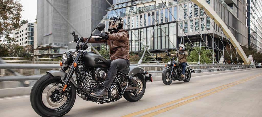 A view of the 2022 Indian Chief Bobber Dark Horse