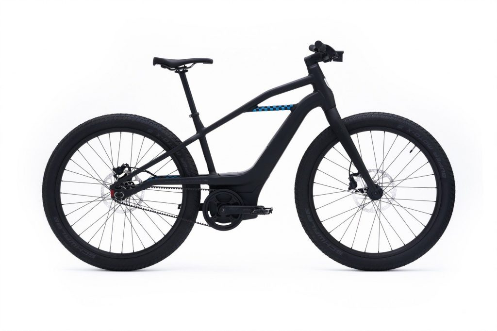 a side view of Serial 1 MOSH/CTY electric bicycle