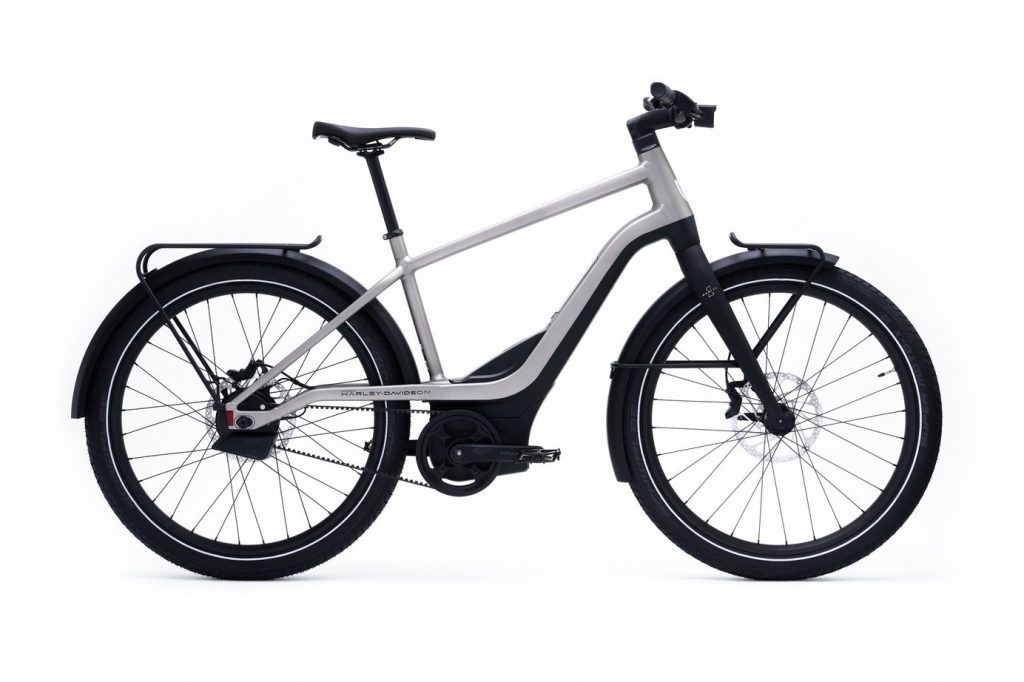 a side view of Serial 1 RUSH/CTY electric bicycle