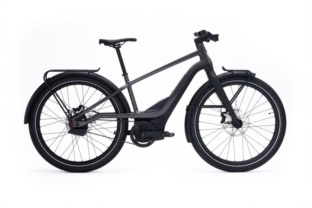 a side view of Serial 1 RUSH/CTY SPEED electric bicycle