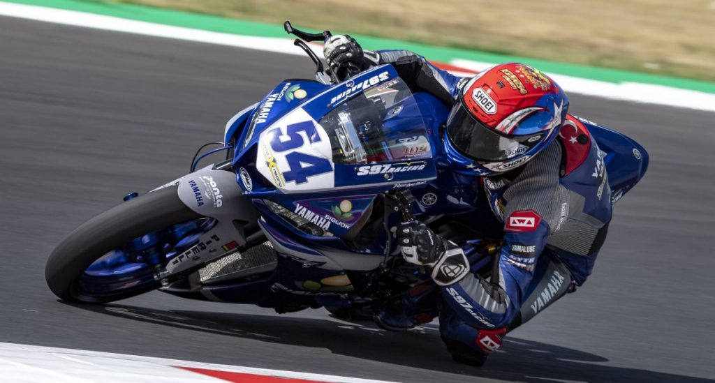 a rider for Team Yamaha, affiliated with the VR46 Rider's Academy