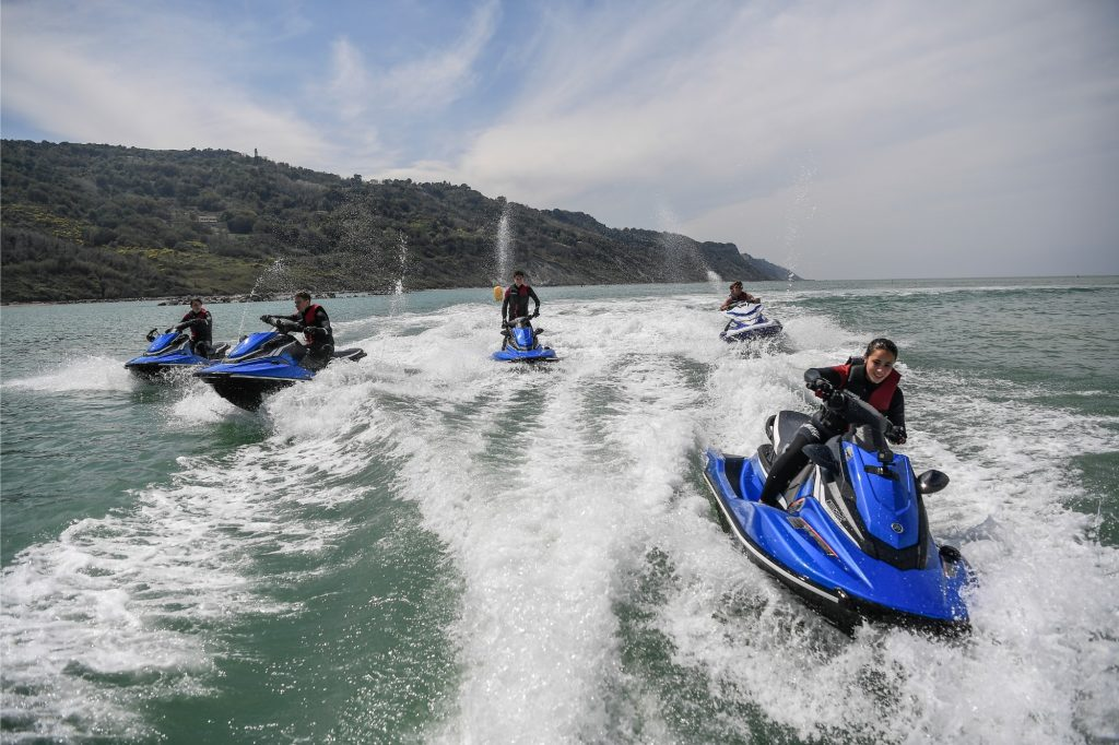 Waverunners supplied to the members of the VR46 Riders Academy Master Camp