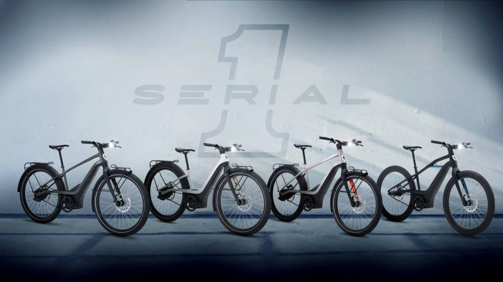 Four models of electric bicycles from Harley Davidson's new company, Serial 1 Cycle Company.