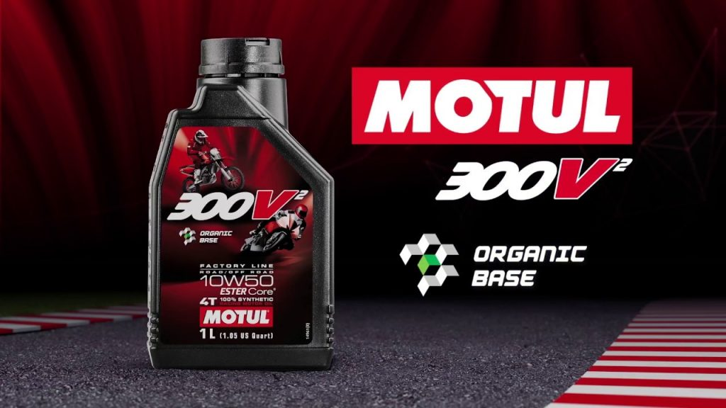 a view of Motul Racing lubricant oil - the stuff used in MotoGP 2021