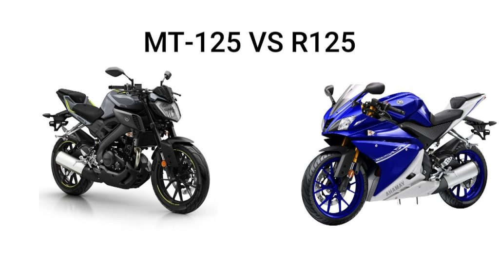 A view of the MT125 and the R125