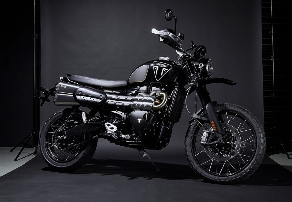 A side view of the Scrambler 1200 Bond Edition