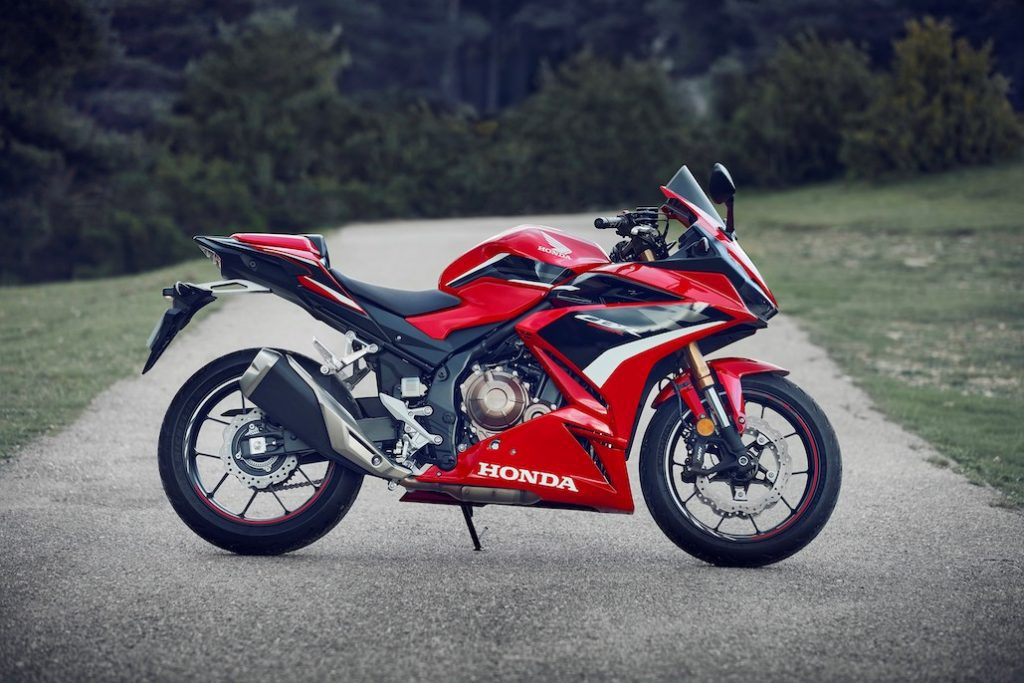 A view of the 2022 CBR500R