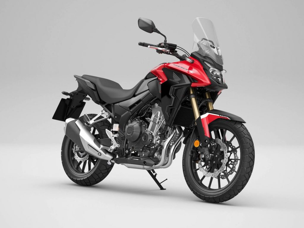 A view of the CB500X
