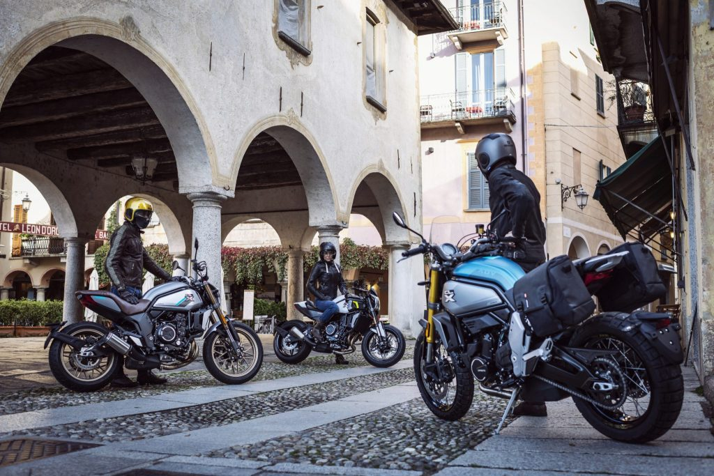 A view of the CFMoto 700 CL-X Series: The Sport, Adventure, and Heritage.