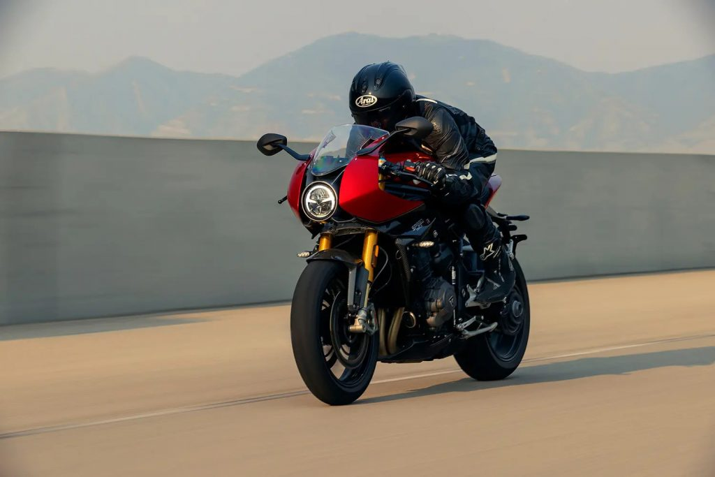 A front view of the Triumph Speed Triple RR